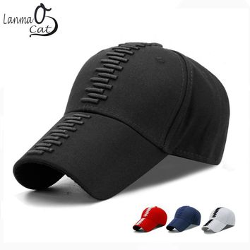 Lanmaocat Fashion 3D Bullet Embroidered Cap Man Woman Embroidered Hat Ball Cap Embroidery Cool Baseball Hat Free Shipping