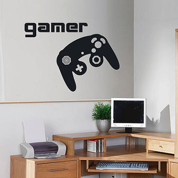 kik2545 Wall Decal Sticker controller console Xbox 360 Game PS4 player bedroom teens