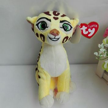 The Lion Guard FULI cheetah TY SPARKLE 1PC 15CM Plush Toys Stuffed animals nano dolls All Saints' Day halloween gift