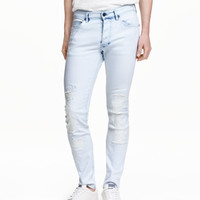 Skinny Regular Trashed Jeans - from H&M