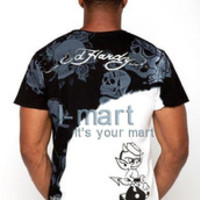 A182 2013 New men T-shirt hot drilling mens t shirts fashion 2013, Men Short T-shirt ed hardy men t shirt free shipping 4 size