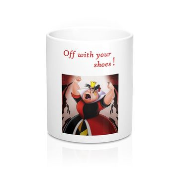 Mug 11oz with Alice in Wonderland Queen of Hearts Art Print