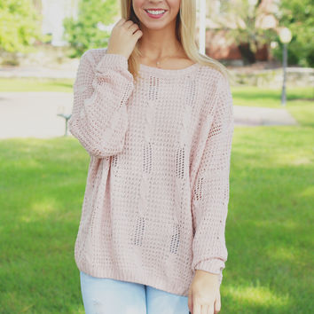 City Center Sweater - Blush