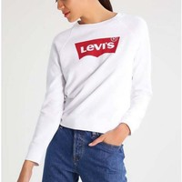 Black LEVI'S Letter Print Sweater Shirt White