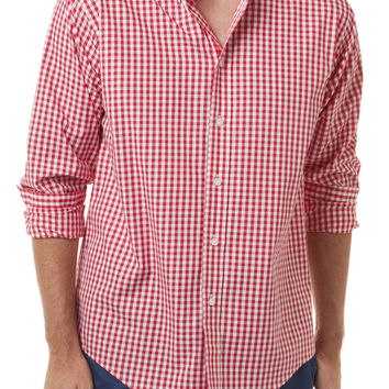Chase Ls Shirt Wide Gingham Red