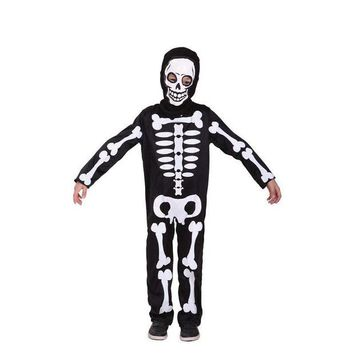 DCCKH6B Boys Skeleton Cosplay Children Halloween Demon Costumes Kids April Fool 's Day tricky fetish Role play Easter Masquerade dress