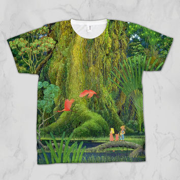 Secret of Mana Tree Unisex Video Game Sublimation T-shirt