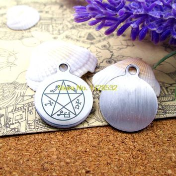 """stainless steel charms """"Supernatural Dean Pentacle Star Amulet"""" 5 style for choosing   DIY Charms Pendants"""