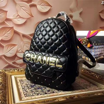 Chanel Women's Leather Backpack Bag