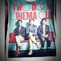 Two Door Cinema Club Rocker Shirt Women Girl Side Boob Tank Tops