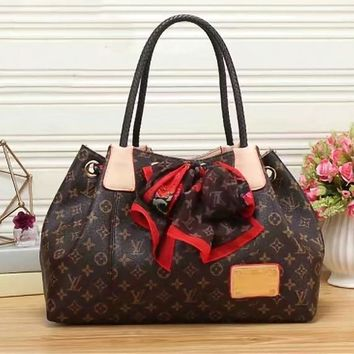 Tagre™ Louis Vuitton Women Fashion Leather Shoulder Bag Handbag Tote Satchel