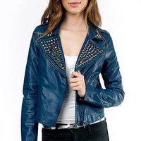 Studded Leather Jacket $60