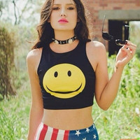 Happy Face Crop Top