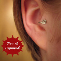 Ronin  2in1 Tragus Cuff style 'B' silver spiral ear by ZyDesigns