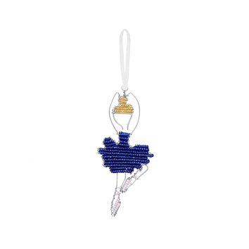 Beaded Ballerina Ornament