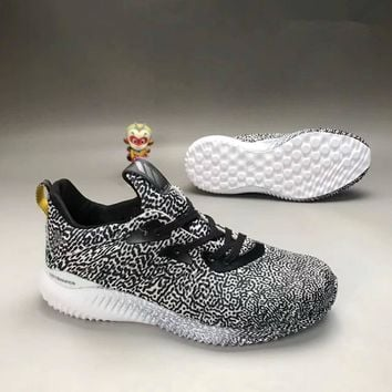 Adidas Unisex Sport Casual Trend Leopard Sneakers Couple Breathable Running Shoes