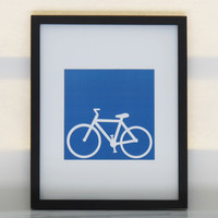 Bicycle Print Spring Decor Fun by ShayaDesignStudio on Etsy