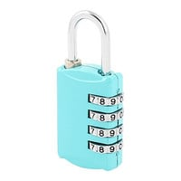 Luggage 4 Digits Resettable Combination Password Padlock Lock Blue
