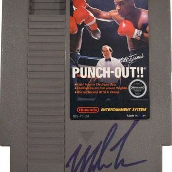 ICIKJNG Mike Tyson Signed Autographed Nintendo Punch Out Video Game (ASI COA)