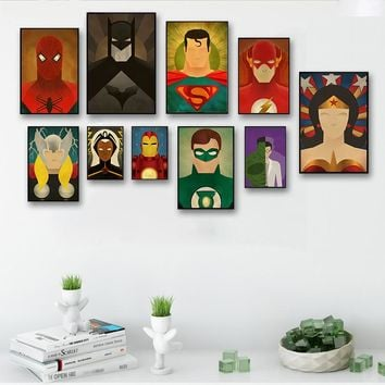 Fashion Home Decoration Cinema Children's Superhero Avenger Green Arrow Man Flash Cartoon DC Comics Poster Canvas Art Print