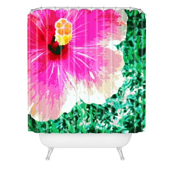 Deb Haugen Pink Hibiscus 2 Shower Curtain