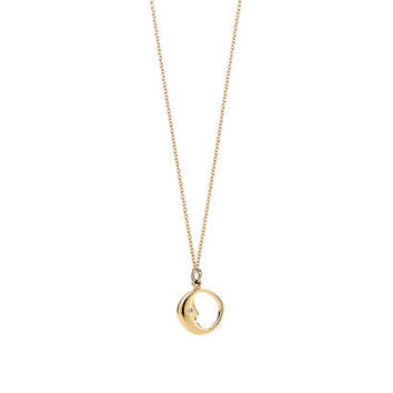"Tiffany & Co. - Man in the Moon charm. Diamonds, 18k gold. On an 18"" chain."