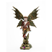 Steampunk Fairy With Robotic Wings statue 13H Figurine