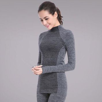CREYYN6 Screaming Retail Price Women Long Sleeve Fitness Gym Running T Shirt  Stretch Soft Sports Yoga Tops