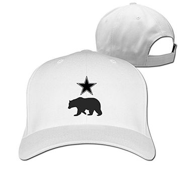 Mens California Republic Grizzly Bear Adjustable Fitted Hat Trucker Hat