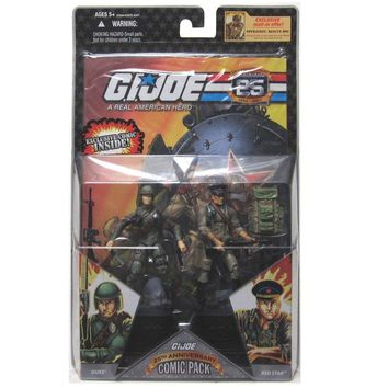 G.I. JOE Hasbro 25th Anniversary 3 3/4`` Wave 4 Action Figures Comic Book 2-Pac