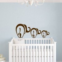 Mom and Baby Elephant Animal Children Kids Baby Room Nursery Wall Vinyl Decals Art Sticker Home Modern Stylish Interior Decor for Any Room Smooth and Flat Surfaces Housewares Murals Design Window Graphic Bedroom (4545)