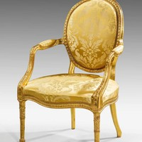 Chippendale Period Gilt Wood Armchair