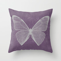 Butterfly Throw Pillow by cafelab