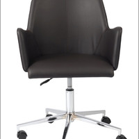Euro Style Sunny Office Chair - Brown Leatherette/Chrome