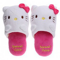 Likesome Cartoon Hello Kitty Pattern Winter Keeping Warm Plush Room Slippers for Adults Hot Sale At Wholesale Price - Gadgetsdealer.com