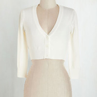 Short Length 3 The Dream of the Crop Cardigan in Ivory