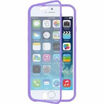 Apple iPhone 6s / 6 Case, Built-in Screen Protector Easy Grip Full Body Armor Case for Iphone 6S/6 - Purple
