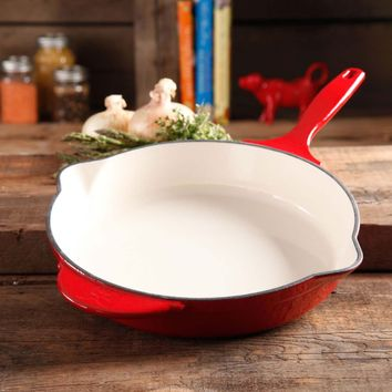 Pioneer Woman Timeless 12 in. Enameled Cast Iron Skillet | Hayneedle