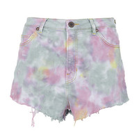 House of Holland Tie-Dye Denim Shorts | Harrods