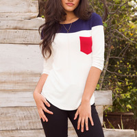Always There Pocket Top - Red