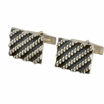 Vintage Sterling Cufflinks by Rotter - Modernist, Studio Made