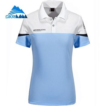 New Leisure Outdoor Camping Cycling Fishing T-shirt Women Breathable Wickdry Quick Dry Tee Shirt Femme Sports Hiking Polo Shirt
