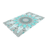 "Monika Strigel ""Dots and Stripes Mint"" Woven Area Rug"