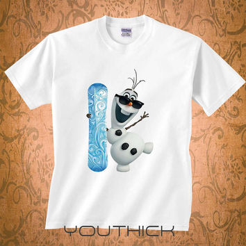 Olaf Disney tshirt, Personalizad Olaf Disney T shirt kids, Olaf Disney youth tshirt,  kids clothes, funny kids tshirt
