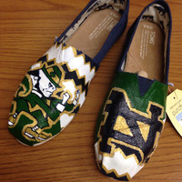 Notre Dame -- Made to Order Hand Painted Shoes