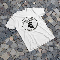 """THE SAMPLE size of the print image on the T-Shirt 12""""x12"""" 5 Seconds of Summer"""