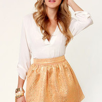Brocade Toss Gold Brocade Skirt