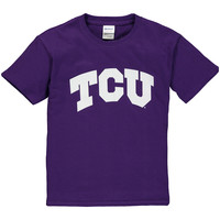 TCU Horned Frogs New Agenda Youth Arch T-Shirt - Purple