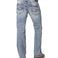 Silver Jeans Co. Zac Relaxed-Fit Straight-Leg Jeans - Indigo
