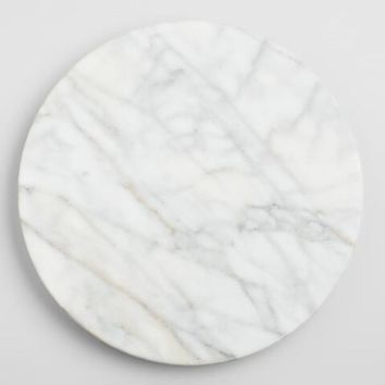 White Marble Lazy Susan